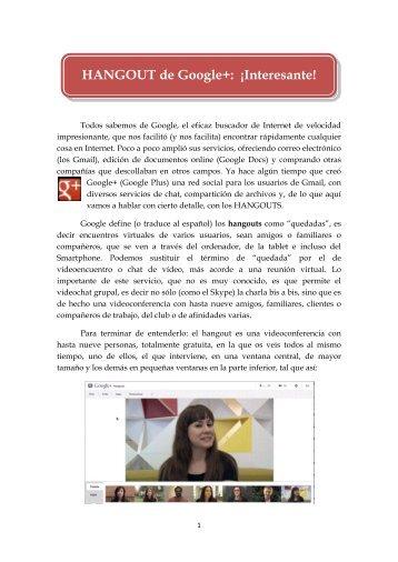 HANGOUT de Google+: ¡Interesante! - Edudactica