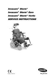 Invacare ® Storm ³ Invacare ® Storm ³ Euro Invacare ® Storm ³ ...