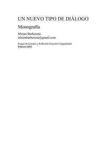 UN NUEVO TIPO DE DIÁLOGO - Parque de Estudio y Reflexión ...