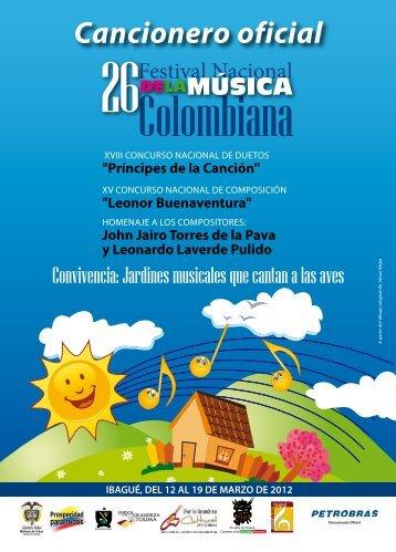 Cancionero oficial - Fundacion músical de Colombia. Festival ...