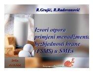Izvori otpora primjeni menadžmenta bezbjednosti hrane (FSMS) u ...