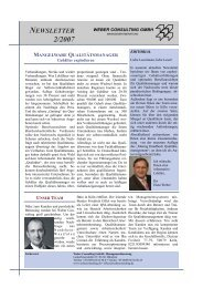 NEWSLETTER - Weber Consulting GmbH