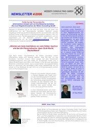 Newsletter_4_06 München - Weber Consulting GmbH