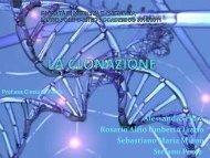 La metodologia della clonazione - Bgbunict.it
