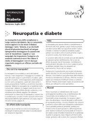 Neuropatia e diabete - Diabetes UK