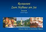 Restaurant Zum Hofhaus am See