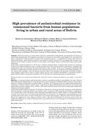 High prevalence of antimicrobial resistance in commensal bacteria ...