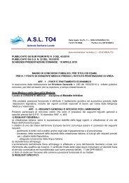 Malattie infettive ivrea - Asl TO4