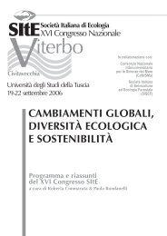 volume contenente i riassunti di tutti i contributi - Società Italiana di ...