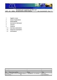 Procedura per la gestione dei rifiuti sani- tari pericolosi ... - ASL Pavia