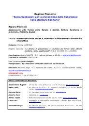 Raccomandazioni per la prevenzione della ... - igienisti on-line