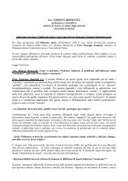 Avv. ROBERTO BERNOCCHI Prof. Giuseppe Zannetti (*): L'evento ...