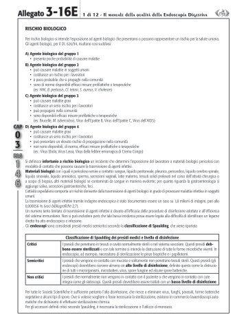Allegato 3-16E 1 di 12 - Il manuale della qualità della Endoscopia ...