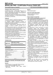 REF 42 634 BOUILLON THIO - CLAIR Salles Propres ... - bioMerieux