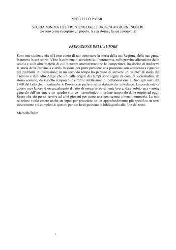 Storia del Trentino - Studio Legale Paiar