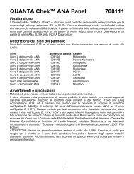 QUANTA Chek™ ANA Panel 708111 Finalità d'uso - inova