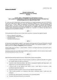 bando n. 19 per la SCMalattie Infettive - Ospedale Niguarda Cà ...