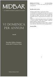 VI Domenica Tempo Ordinario (12 febbraio 2012) - midbar