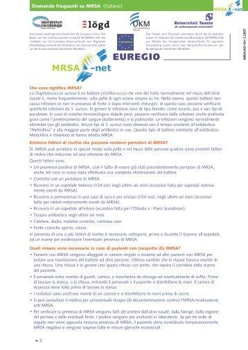 Domande frequenti su MRSA (Italiano) - Hagen