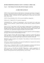 Decreto direzione sanità n. 6932 del 27/04/2004 Linee guida ...