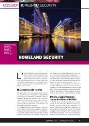 Dossier Homeland Security - Eustema SpA