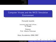 Computer Viruses and the WiCE Simulation Environment - Autistici