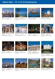 Digitale Bilder – CD 14 mit 50 Reisefotografien - bei Kessler Medien