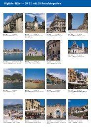 Digitale Bilder – CD 12 mit 50 Reisefotografien - bei Kessler Medien