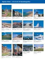 Digitale Bilder – CD 20 mit 50 Reisefotografien - bei Kessler Medien