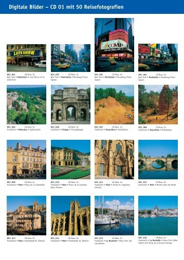 Digitale Bilder – CD 01 mit 50 Reisefotografien - bei Kessler Medien