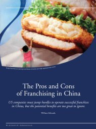 The Pros and Cons of Franchising in China - Edwards Global Services