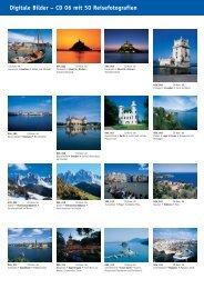 Digitale Bilder – CD 06 mit 50 Reisefotografien - bei Kessler Medien