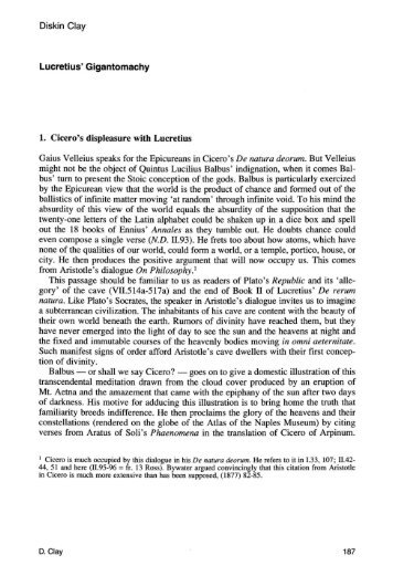 the ontology of plato and lucretius essay Can some pleeeeassse help me with a philosophy essay on lucretius vs thomas aquinas (aristotle) or on plato vs thomas aquinas (aristotle).
