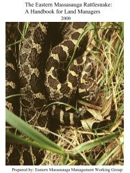 The Eastern Massasauga Rattlesnake: - U.S. Fish and Wildlife Service