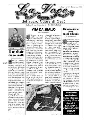 N° 12, Marzo 2000 - Vita da sballo - Parrocchia Sacro Cuore di ...