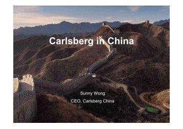 27.11.06 Carlsberg in China .pdf - Carlsberg Group