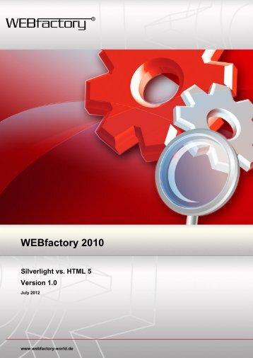 Silverlight vs. HTML 5 - WEBfactory GmbH