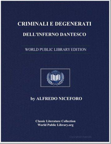criminali e degenerati dell'inferno dantesco - World eBook Library