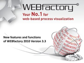 New features and functions of WEBfactory 2010 Version 3.3