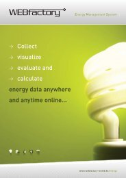 WEBfactory p.EMS brochure - WEBfactory GmbH
