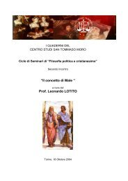 dispensa secondo incontro - Centro Studi San Tommaso Moro