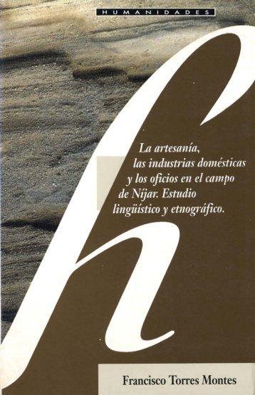 Artesania, industria doméstica y oficios Campo de Níjar - Bibliotecas ...