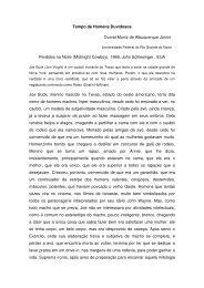 Tempo de Homens Duvidosos Durval Muniz de ... - CCHLA/UFRN