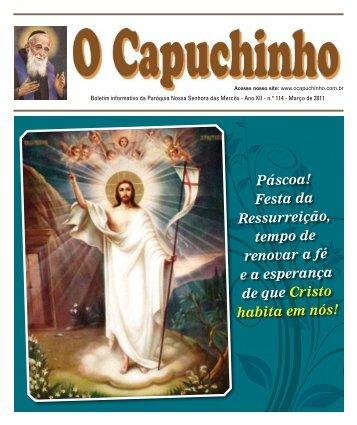 """Jornal """"O Capuchinho"""" - março de 2011 - Paróquia Nossa Senhora ..."""