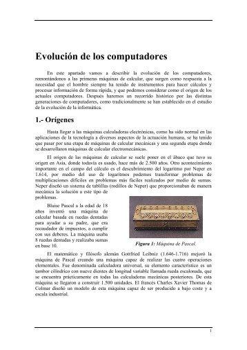 Evolución de los computadores - Arquitectura y Tecnología de ...