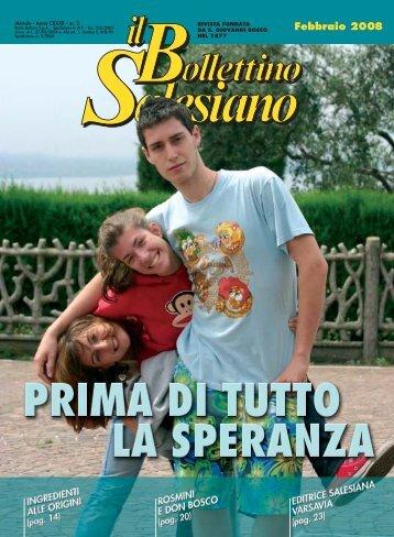 BS Febbraio 2008 - il bollettino salesiano - Don Bosco nel Mondo