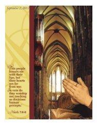 September 2, 2012 - Holy Family Parish