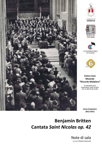 Benjamin Britten Cantata Saint Nicolas op. 42 - ArteVarese