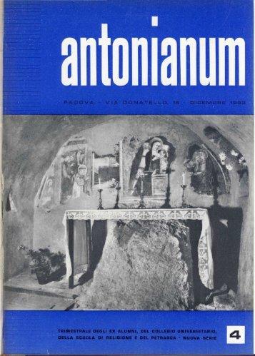 Dicembre - Ex-Alunni dell'Antonianum