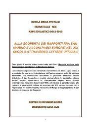 Rapporti San Marino - Europa - Portale per l'educazione